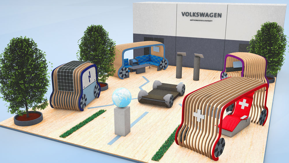 Vw-messestand