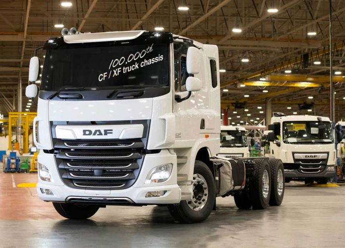 DAF_CF_XF_truck_chassis_built_in_Leyland